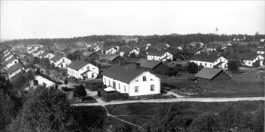 Vy över omgivningarna 1897. Foto: Elvert Erikssons historiska arkiv.