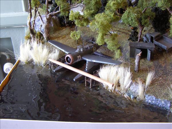 bild av dioramat under vattengjutning