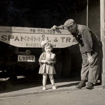Oskar Elgstrand med dottern Barbro