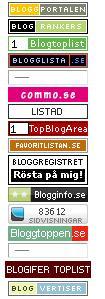 Banners för de olika portalerna (ej klickbara)