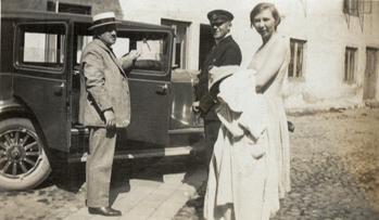 Gotthard Ellerstrand, bil, chaufför, Vivika Ellerstrand