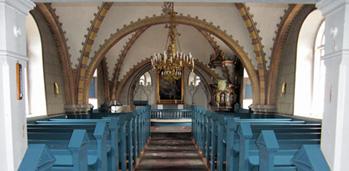 Kyrkans interiör