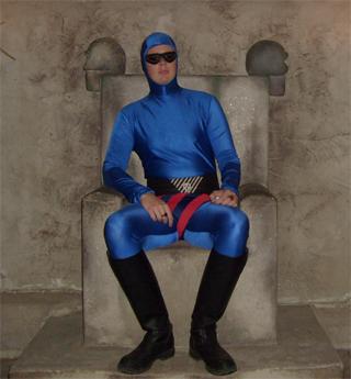Fantomen på sin tron i Fantomen grottan