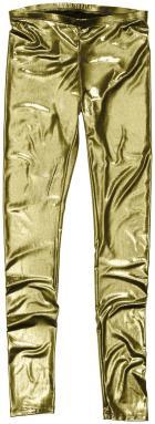 Leggings i guldmetallic från H&M