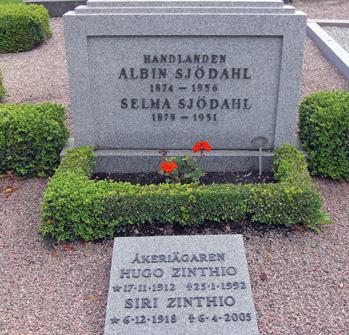 Albin och Selma Sjödahl samt Hugo och Siri Zinthio
