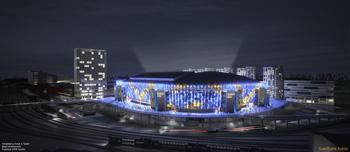 Swedbank Arena på natten