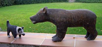 snidad hund och björn