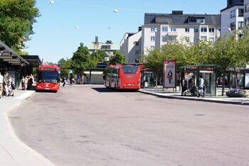 Bussar utanför t-banan
