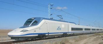 Det Spanska höghastighetståget Talgo-350