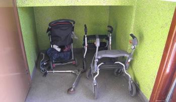 Förr barnvagnar - nu rullatorer...