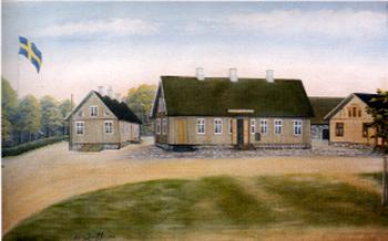 Johanssons Gästgiveri i Örkelljunga. Gåramålning.