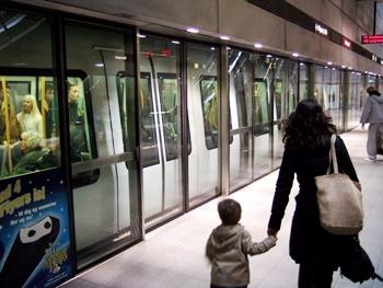 Säkerhetsväggar på en station