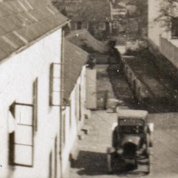 Husets del mot Laxgatan