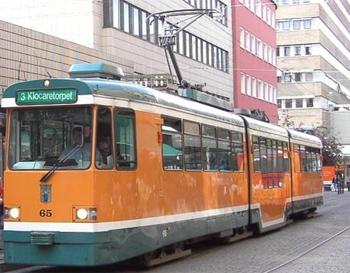 Moderns spårvagn i Norrköping