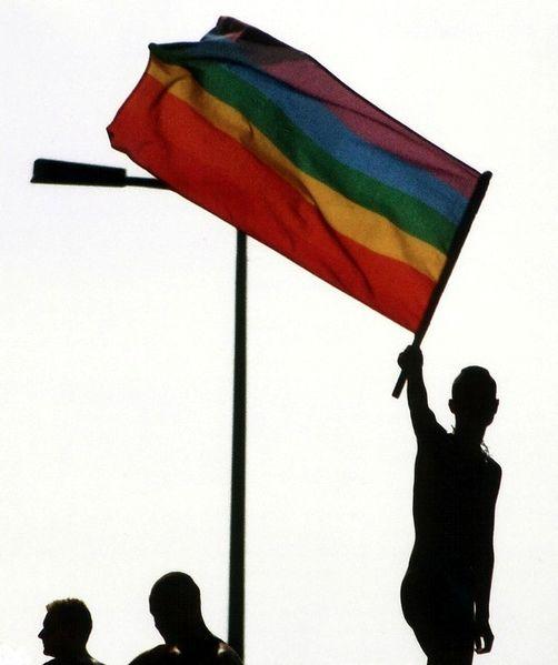 Regnbågsflaggan i Berlin