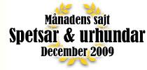 Månadens sajt i december 2009