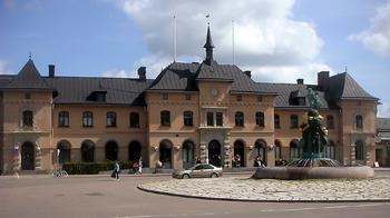 Uppsala centralstation med Näckens polska