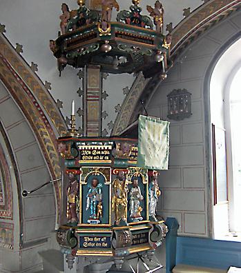 Predikstol i Starby kyrka