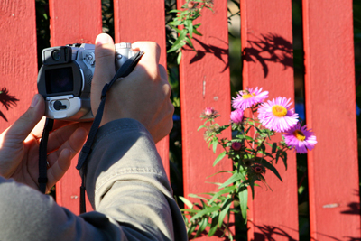 Fotograferar