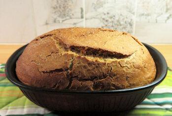 glutenfritt bröd i lergryta