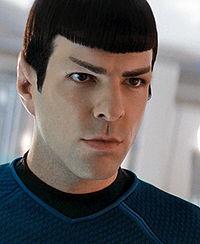 Den unge Spock spelad av Zachary Quinto