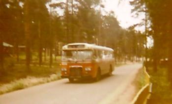 Buss på väg till Malnbaden, Hudiksvall