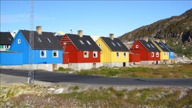Typiska grönländska hus.