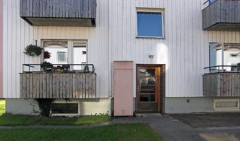 Ingången till vår lägenhet på Höjavägen