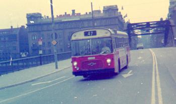 Linje 47 i Stockholm med Leyland