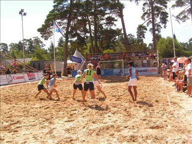 Beachhandboll spelplan