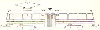 Bilden: Skiss av vagnens utsida