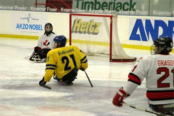 Bilden: Kälkhockey