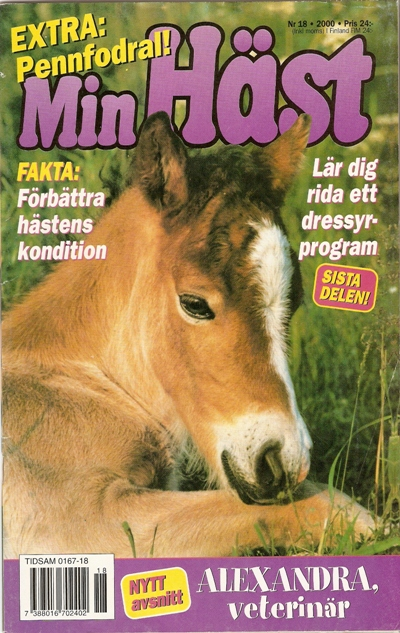 På omslaget av Min Häst nr 18 2000 syns Josephine 4162 (f 1999 e Granit 368  - Plupp 3197 e Kasper 370) 69d55daeb3118