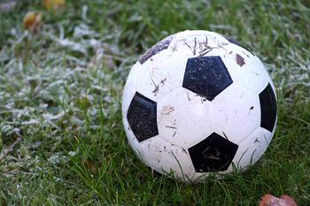 En fotboll i gräset