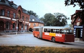 SJ-buss av ledvagnsmodell i Skåne