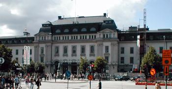 Stockholms central från Centralplan